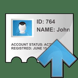 Profile arrow up icon