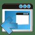 Application-arrow-left icon