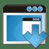 Application-arrow-down icon
