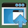 Application-arrow-up icon