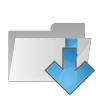 Folder-arrow-down icon