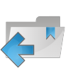 Folder-arrow-left icon