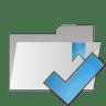 Folder-check icon