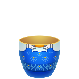blue matreshka lower part icon