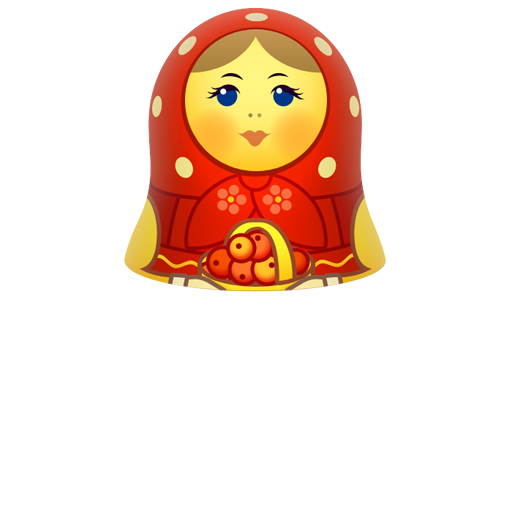 Red matreshka upper part icon