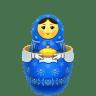 Blue-matreshka-inside-icon icon