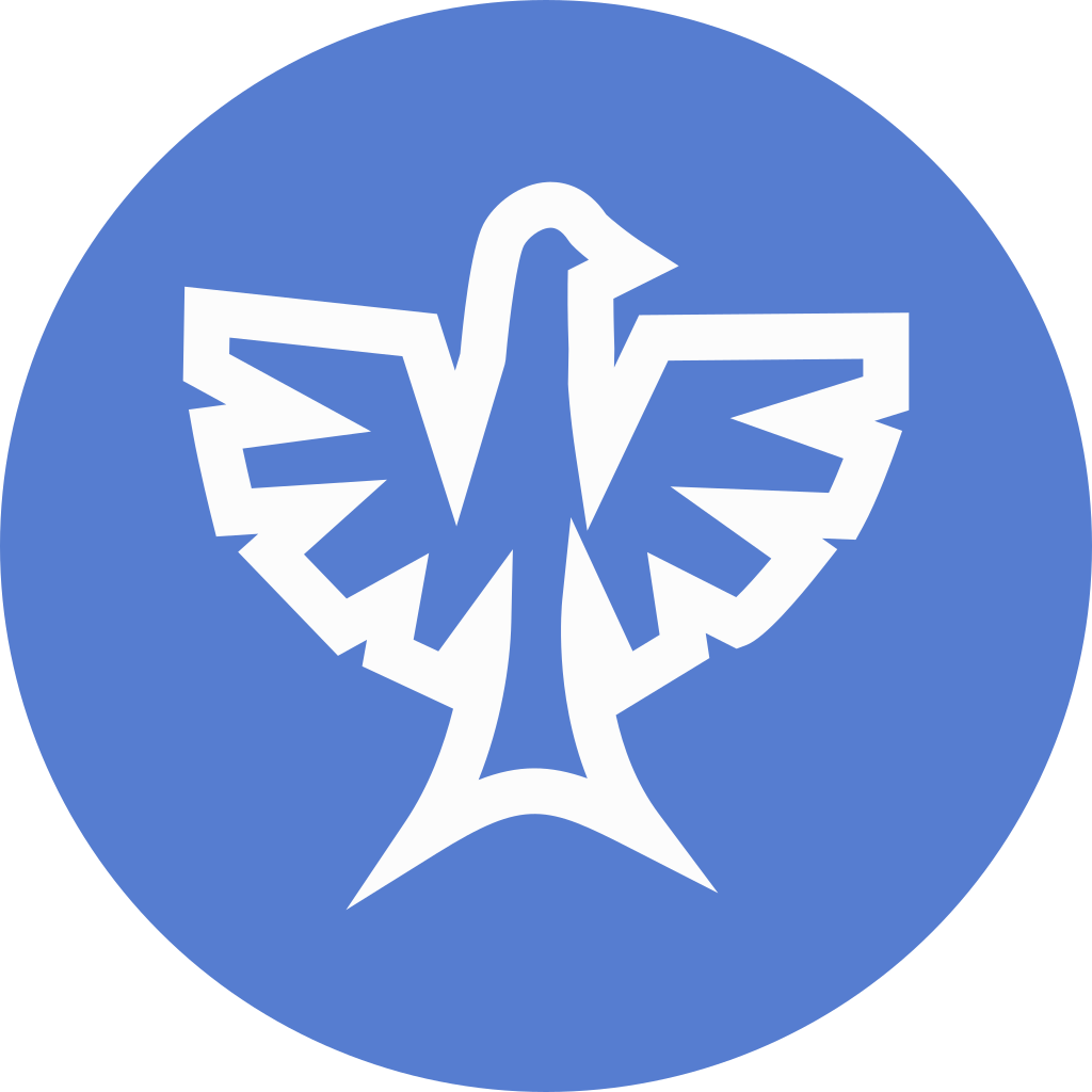 Election Eagle Outline Icon | Circle Blue Election Iconset