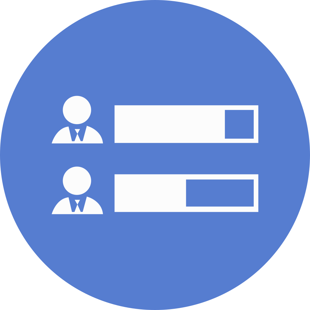 election result icon circle blue election iconset icon
