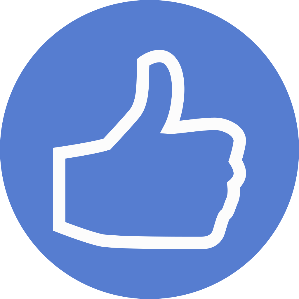 Election Thumbs Up Outline Icon   Circle Blue Election ...