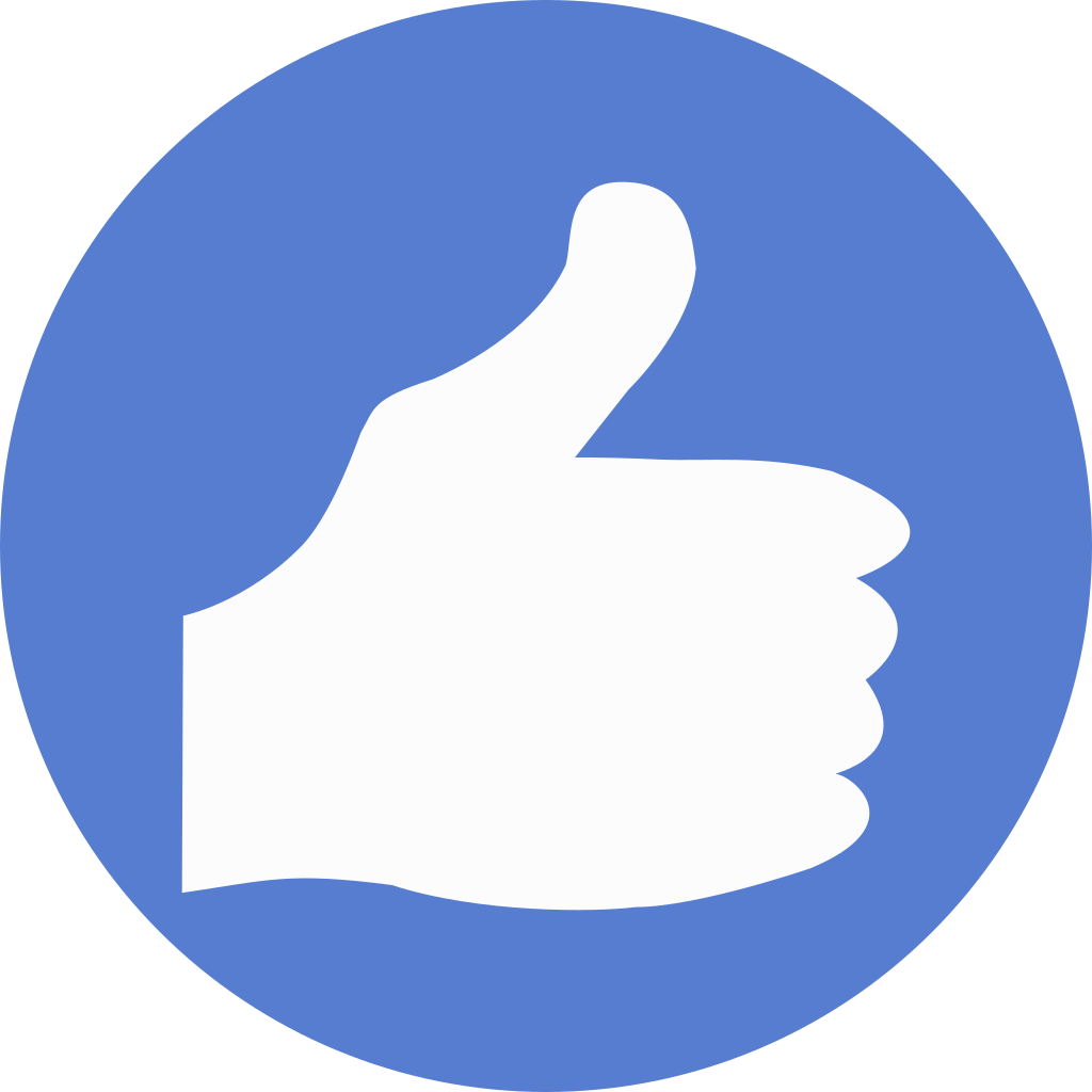 Text icon for thumbs up