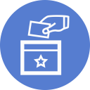 Election Polling Box Outline icon