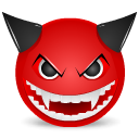Devil mad icon
