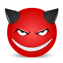 Devil smile icon