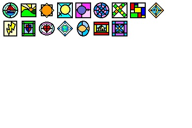 Stained Glass Icons