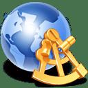 globe sextant icon