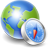 globe compass icon