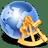Globe-sextant icon