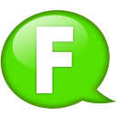 Speech-balloon-green-f icon