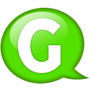 Speech balloon green g icon