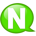 Speech balloon green n icon