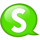 Speech-balloon-green-s icon