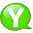 Speech balloon green y icon