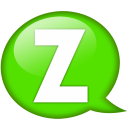 Speech-balloon-green-z icon