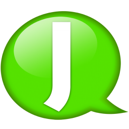 speech balloon green j icon