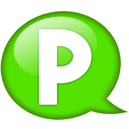 speech balloon green p icon