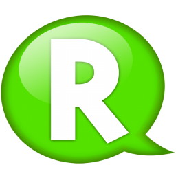 speech balloon green r icon