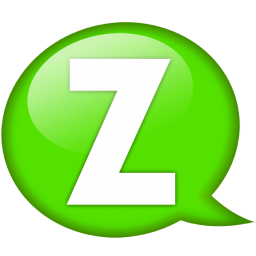 Speech balloon green z icon