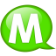 Speech balloon green m icon