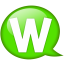 Speech balloon green w icon