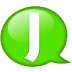 Speech-balloon-green-j icon