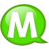 Speech-balloon-green-m icon
