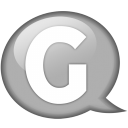 Speech balloon white g icon
