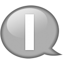 Speech-balloon-white-i icon
