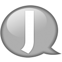 Speech balloon white j icon