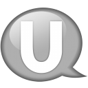 Speech balloon white u icon