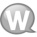Speech-balloon-white-w icon