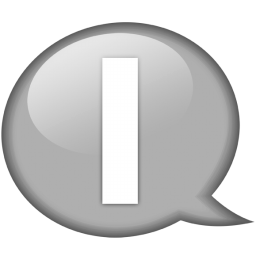 speech balloon white i icon