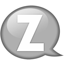 Speech balloon white z icon