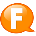 Speech-balloon-orange-f icon