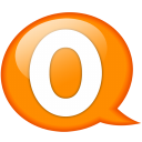 Speech balloon orange o icon