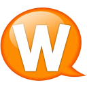 Speech balloon orange w icon