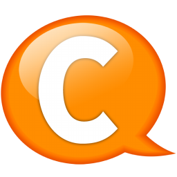 speech balloon orange c icon