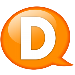 speech balloon orange d icon