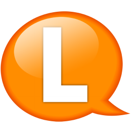 speech balloon orange l icon