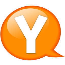 speech balloon orange y icon