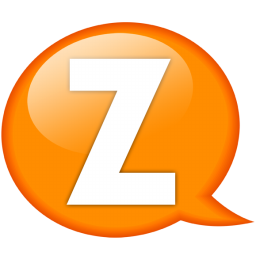 speech balloon orange z icon